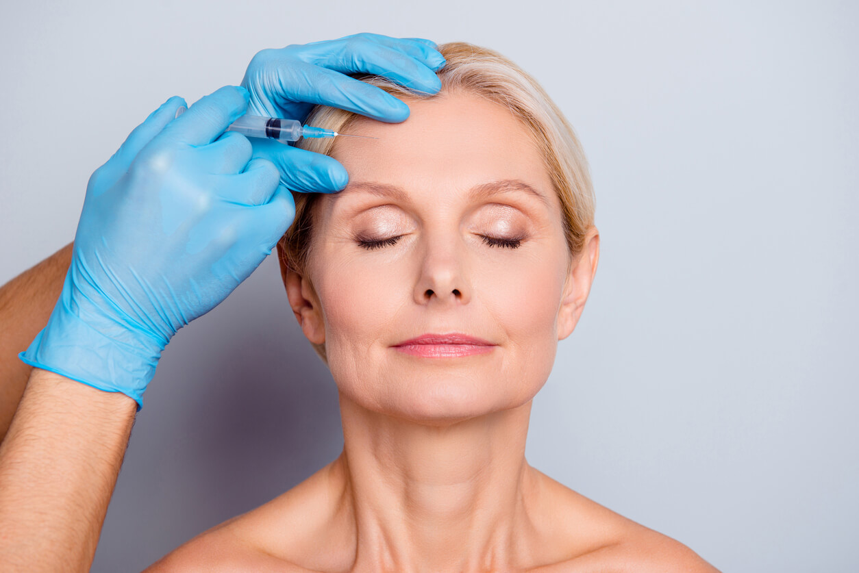 getting injection in forehead - botox